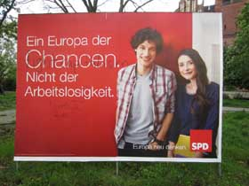 SPD-Plakat am Petersburger Platz